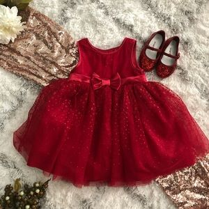 ❤️CHEROKEE DRESS❤️ Little Red Christmas Dress